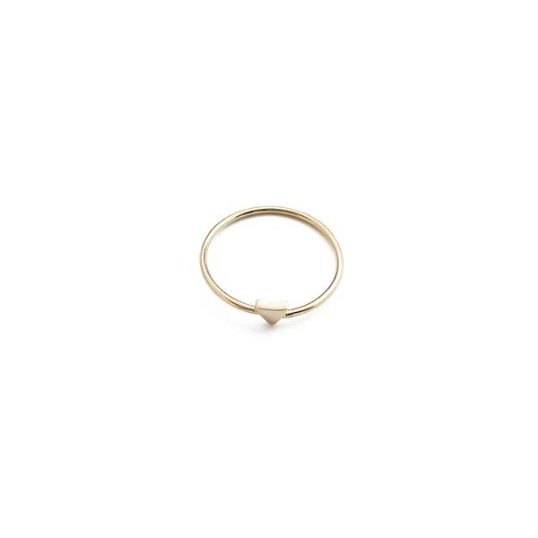 Honeycat Tiny Triangle Ring (Delicate Jewelry)