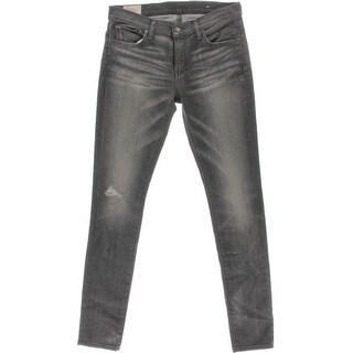 Polo Ralph Lauren Womens Tompkins Skinny Jeans Distressed Denim