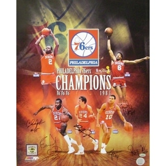 4d9c268e2 Shop Bobby Jones signed Philadelphia 76ers 16x20 Photo Collage 1983 NBA  Champions w 6 Signatures - Free Shipping Today - Overstock - 19867979