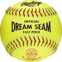 "Rawlings 11"" ASA Pro Tac Dream Seam Fastpitch Softball (DZ) Optic Yellow 11"