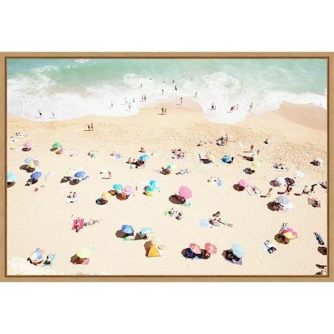 Seaside 1 (Beach) by Carina Okula Framed Canvas Art