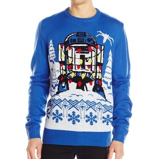 Star Wars Royal Blue Mens Size 2XL Crewneck Pullover Sweater