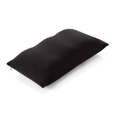 Premium Microbead Pillow, Anti-Aging, Silk like Cover, Matte Black