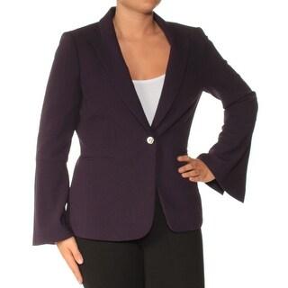 Womens Purple Wear To Work Blazer Jacket Size 4