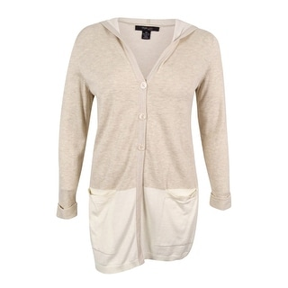 Style & Co. Women's Colorblocked Hooded Cardigan