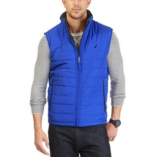 Nautica Reversible Water Resistant and Heat Retention Vest Cobalt Blue Large L