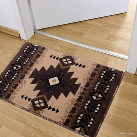 """Allstar Berber Doormat Accent Rug Woven High Quality High Density Double Shot Drop-Stitch Carving (2' 0"""" x 3' 3"""")"""