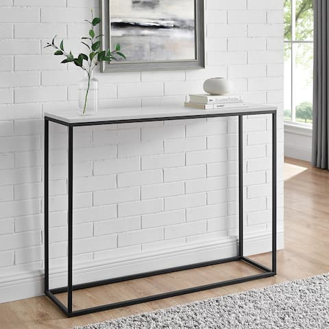 Carbon Loft Geller 42-inch Metal Entry Table