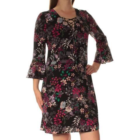 JESSICA SIMPSON Purple Bell Sleeve Mini Shift Dress Size 4