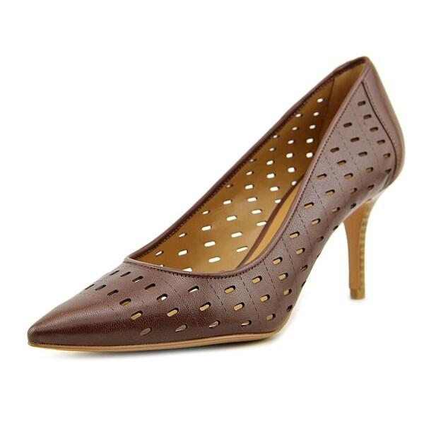 Nine West Kaydence Women Pointed Toe Leather Brown Heels