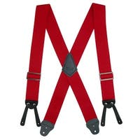 CTM® Men's Elastic Basic Work Suspender - one size