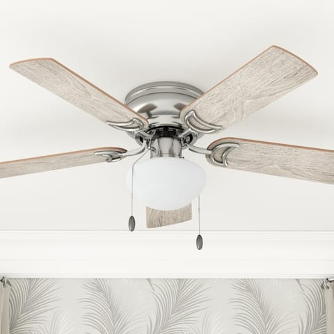 Prominence Home Alvina 42-inch Brushed Nickel Ceiling Fan