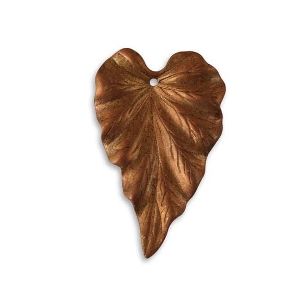 Vintaj Artisan Copper Woodland Leaf Pendant 38mm x 24.5mm (1)
