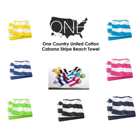 One Country United Cotton Cabana Stripe Beach Towel