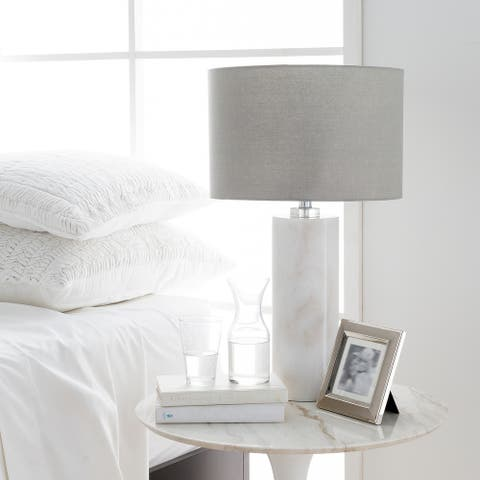 Jo Table Lamp with Natural Finish Crystal Base