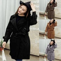 Fashion Women Autumn Winter Windbreaker Coat Jacket Suede Outwear Parka Overcoat