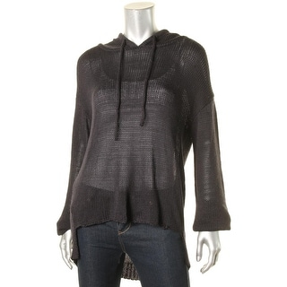 Vintage Havana Womens Hooded Sweater Hooded Knit
