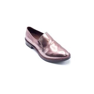 Brunello Cucinelli Women's Leather Slip-On Shiny Metallic Pink - 8