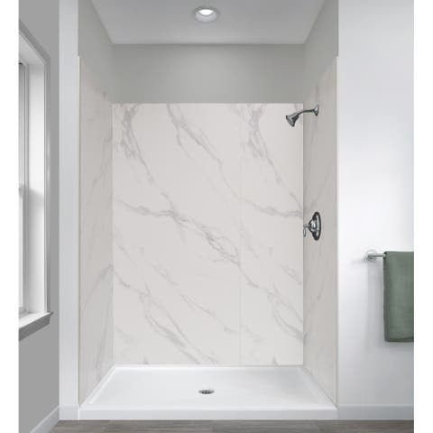 "Miseno MSW784834 ReadySet 48"" X 34"" X 78"" Five Panel Alcove Shower - Carrara White"