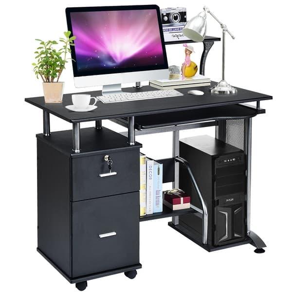Costway Computer Desk Pc Laptop