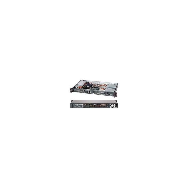 Supermicro CSE-505-203B Supermicro SuperChassis 505-203B (Black) - Rack-mountable - Black - 1U - 1 x Bay - 1 x 200 W - Mini ITX