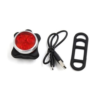 Father  s Day Gift l Bike Bicycle USB Rechargeable Adjustable Strap 4 Modes Red 3 LED Tail Light