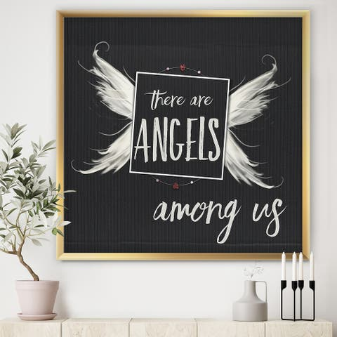 Designart 'Angels Among Us' Cottage Framed Art Print