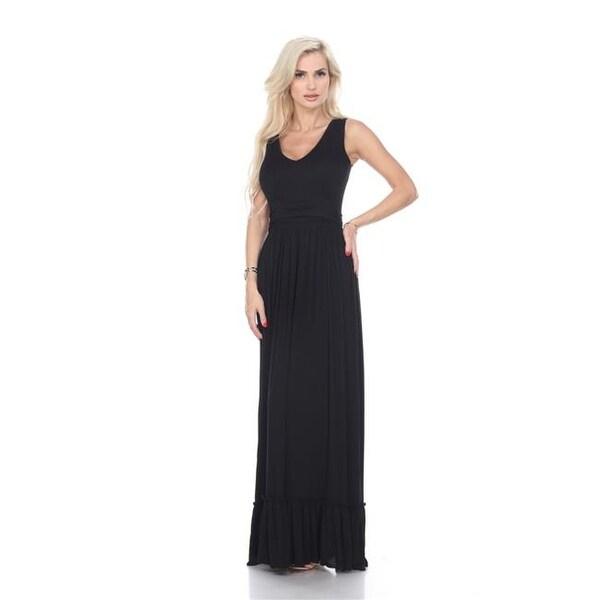 12585a63baf48 White Mark 310-01-S Medina Maxi Dress, 01 - Black - Small
