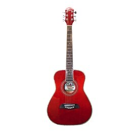 O S Half Size Acoustic SS Trans Red