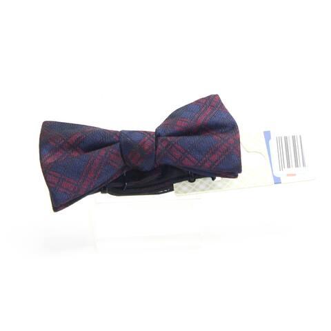 Ryan Seacrest Distinction Men's Red Blue Pienza Pre-Tied Bow Tie Silk