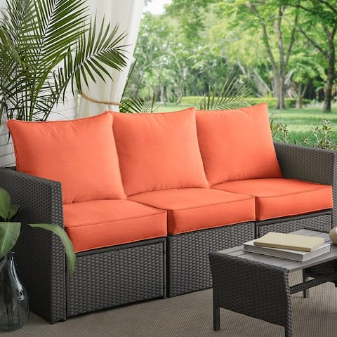 Deep Seating Corded Sofa Pillow and Cushion Set by Havenside Home