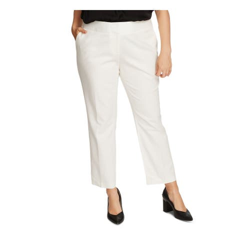 VINCE CAMUTO Womens Ivory Straight leg Formal Pants Size 22W