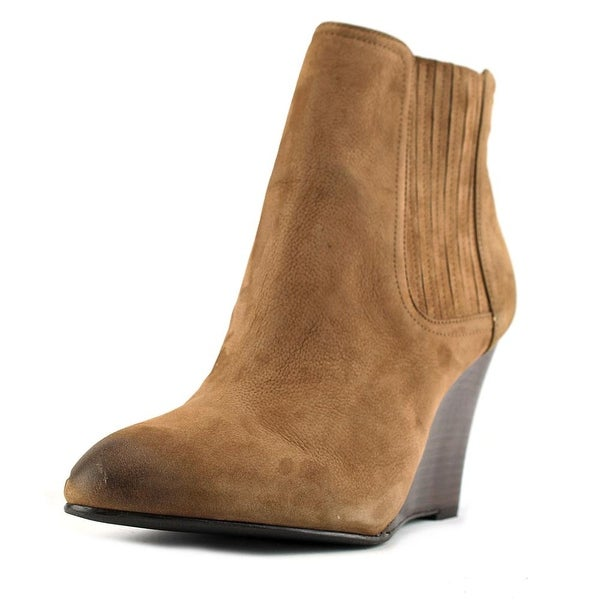 Sam Edelman Gillian Women Pointed Toe Leather Brown Bootie