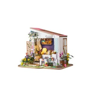 DIY Miniature Dollhouse Kit - 3D Wooden Model with Furniture & Accessories Lily's Porch