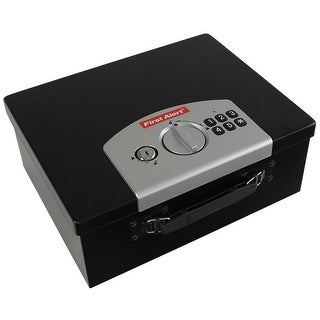"""First Alert 3035DF 460 Cubic"""" Programmable Digital Security Box - Black/silver"""
