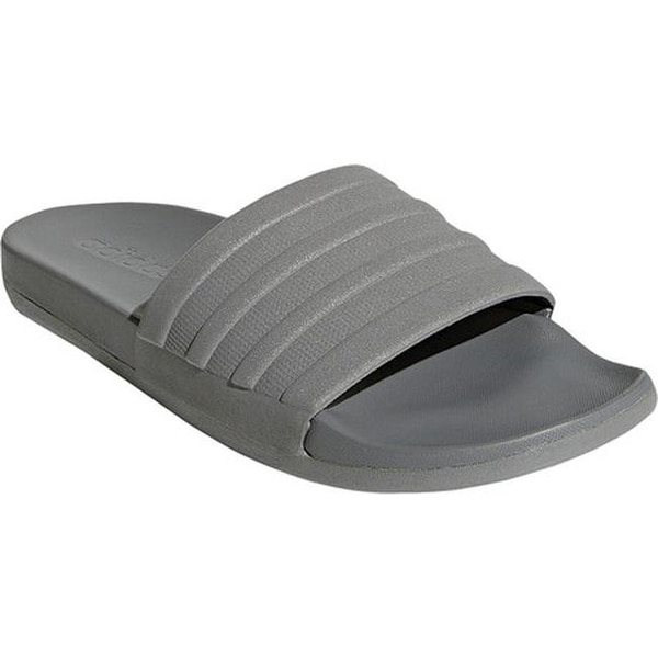d2aa4753d4a adidas Men  x27 s Adilette Cloudfoam Plus Slide Grey Three Grey Three