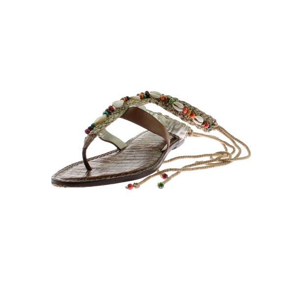 Sam Edelman Womens Gerome Flat Sandals Leather Macrame - 6 medium (b,m)