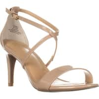 TS35 Darria Cross Strap Evening Sandals, Nude
