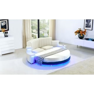 Luxury Design modern round led bed king size