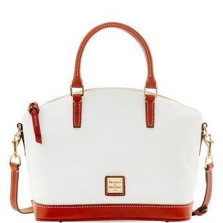 Dooney & Bourke Pebble Grain Toni Satchel (Introduced by Dooney & Bourke at $228 in Apr 2016) - White