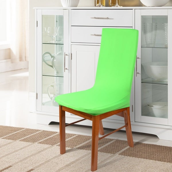 Shop Unique Bargains 1 Pcs Green Spandex Stretch Dining Room Chair