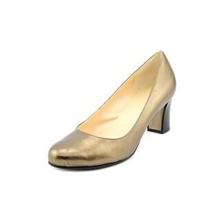 Cole Haan Edie Low.Pump Round Toe Leather Heels