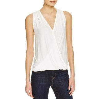 Ella Moss Womens Tank Top Surplice Tied Back
