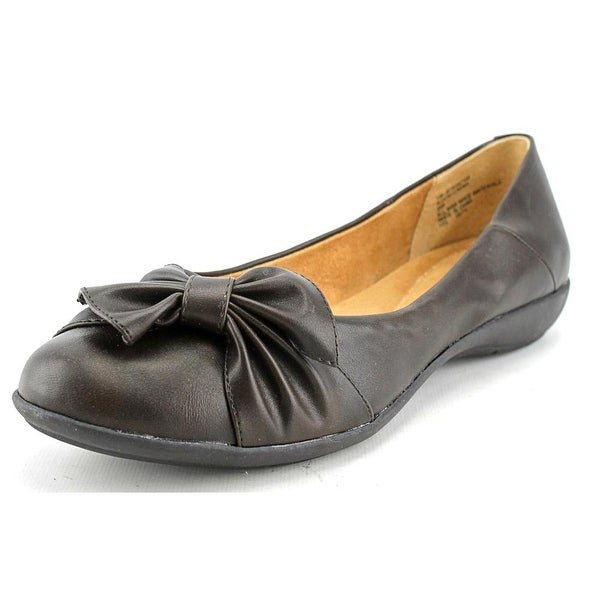 White Mountain Mina Women Round Toe Synthetic Brown Flats