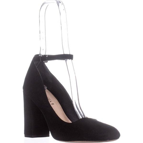 Via Spiga Selita Ankle Strap Pumps, Black Suede