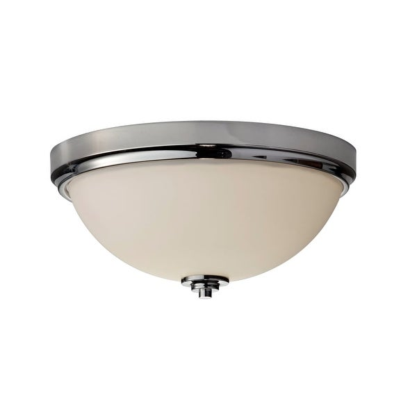Feiss Fm372 Malibu 2 Light Flush Mount Ceiling Fixture Polished Nickel Free Shipping Today 22063117