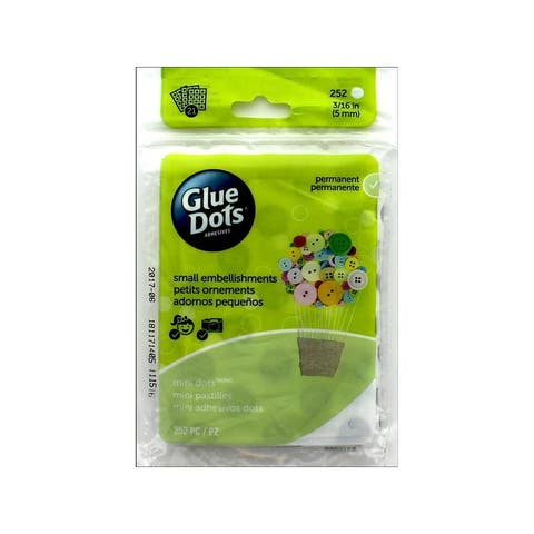 33709-fc glue dots mini 3 16 sheet clear 252pc