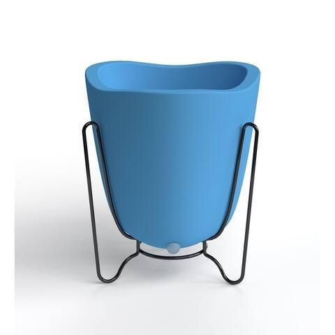 Small Tryas Resin/ Metal 2-Piece Pot Planter