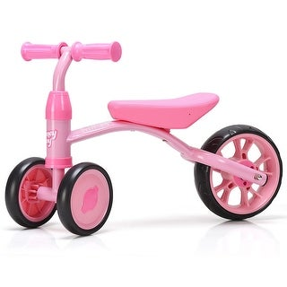 Costway 3 Wheels Kids Balance Bike Tricycle Toy Rides Baby Walker No Foot Pedal Pink