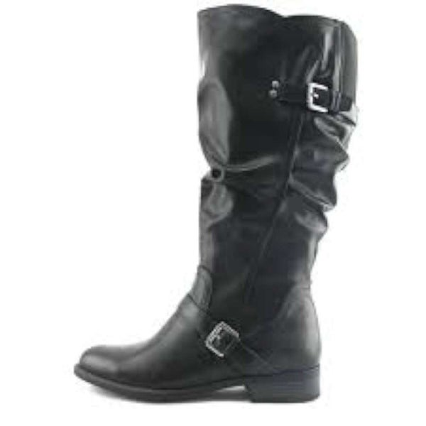 White Mountain Womens Lida Almond Toe Mid-Calf, Black/burn/smooth, Size 7.0